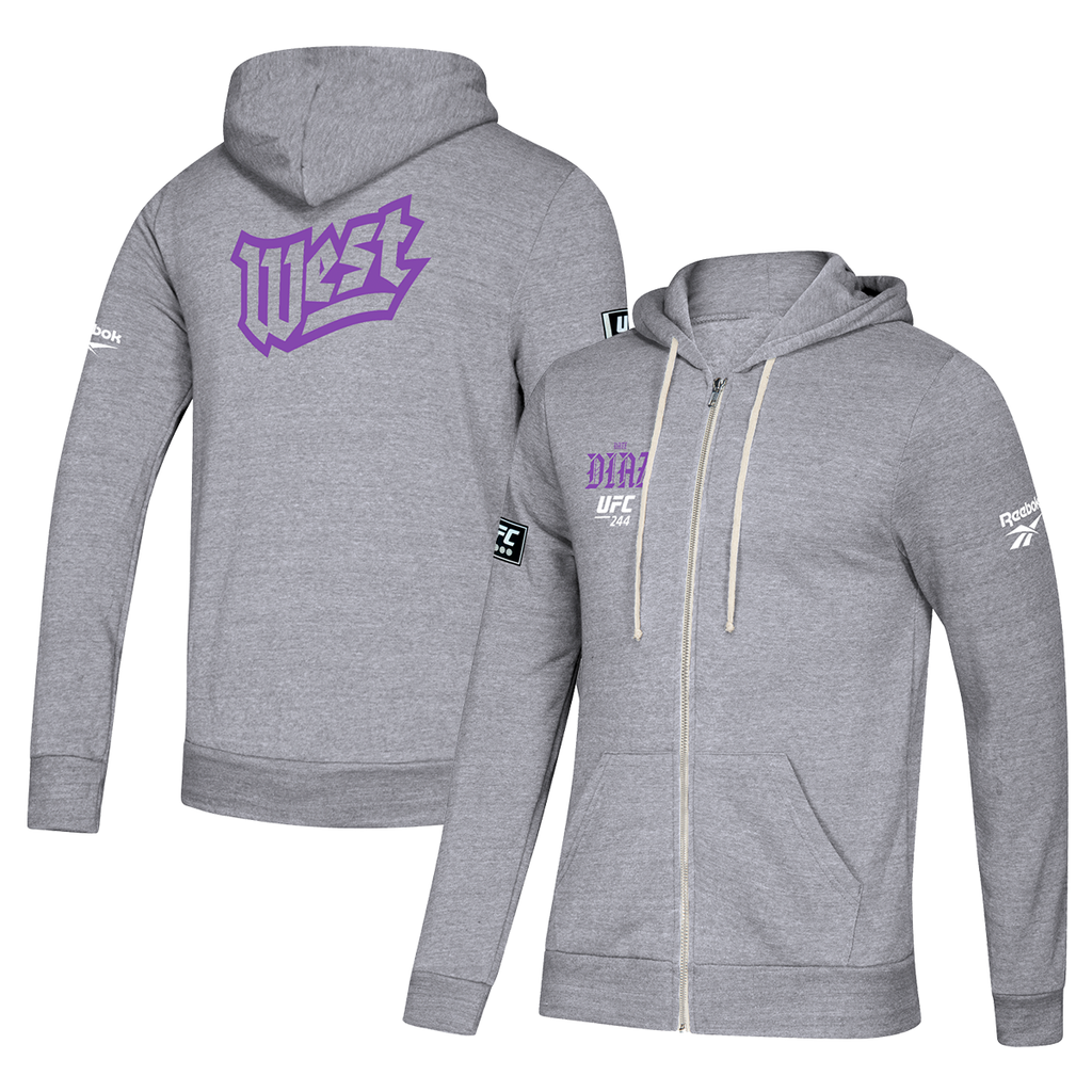 UFC 244 Nate Diaz West Camp Full Zip Hoodie-Black