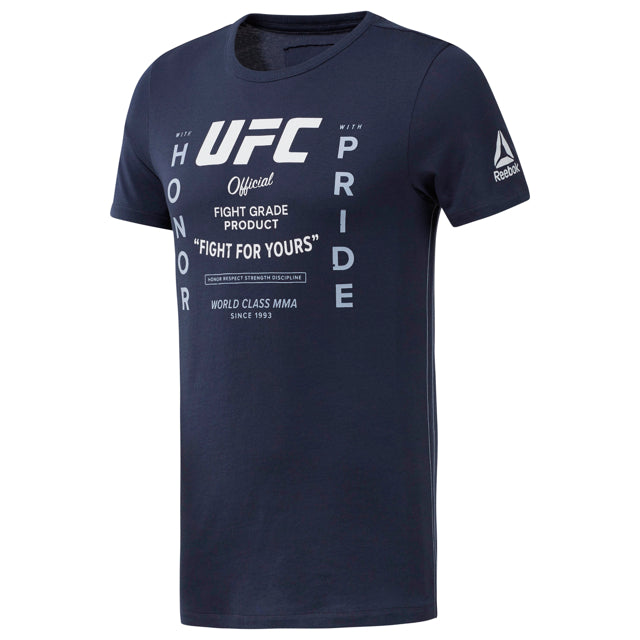 UFC Reebok Fan Gear Retro Tee-Blue