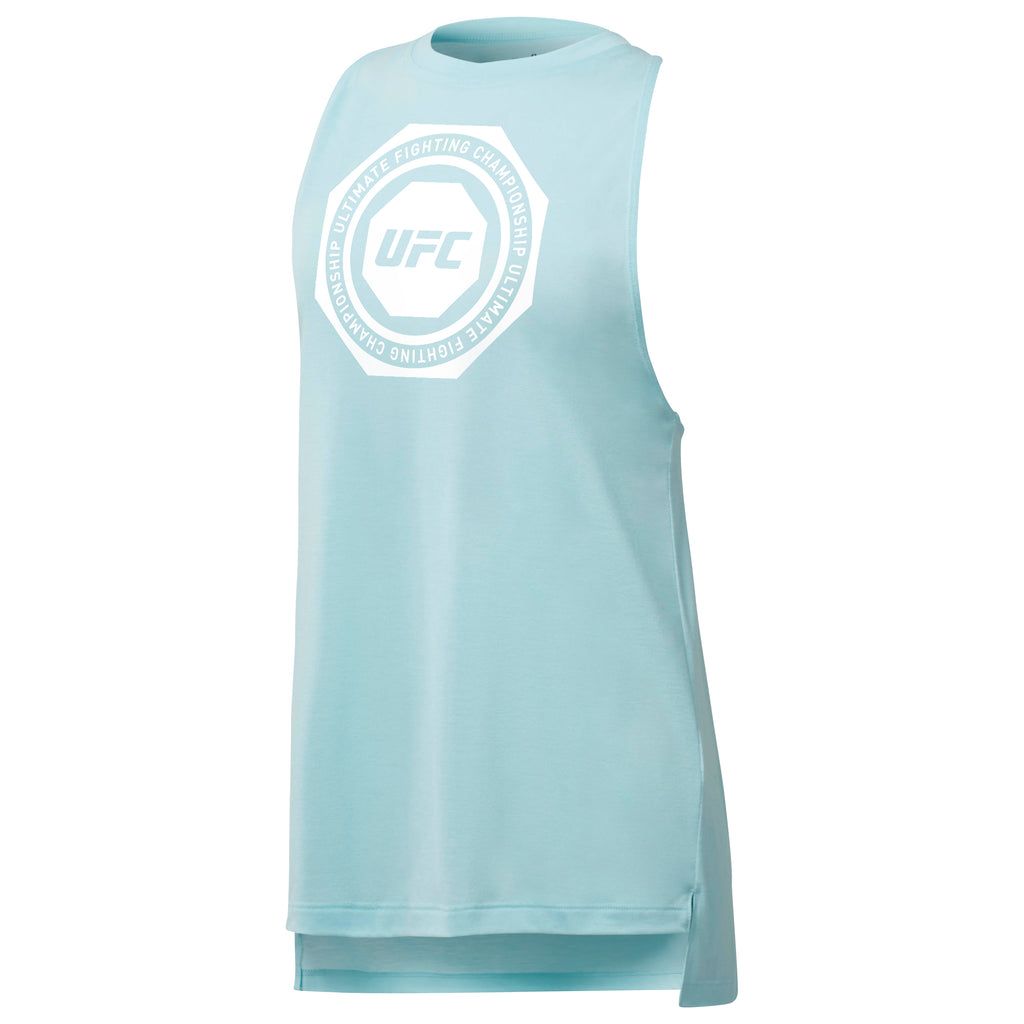 UFC Womens Reebok US Sleeveless Tee -Blue Lagoon