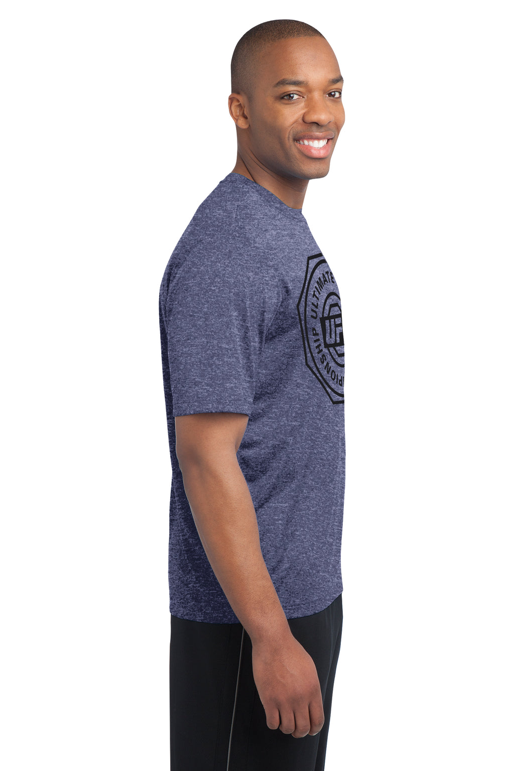 UFC Mens Reebok Ulitimate Crew Performance Tee -Collegiate/Navy