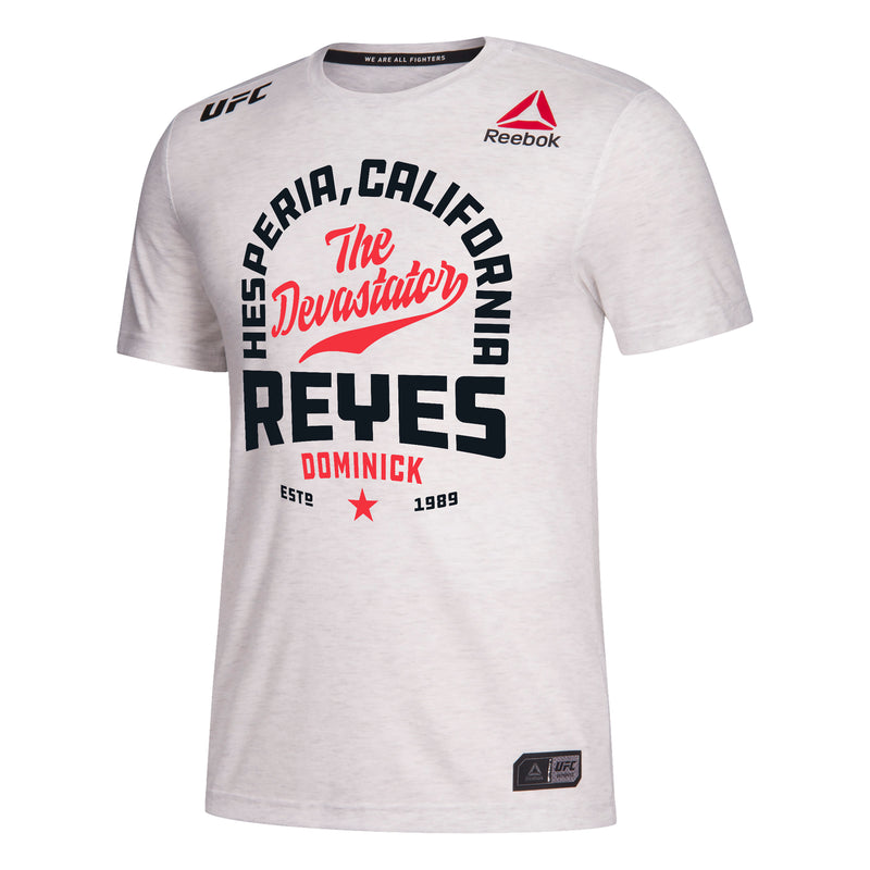 Men's Reebok Dominick Reyes Chalk Authentic UFC 247 Legacy Series Walkout Jersey