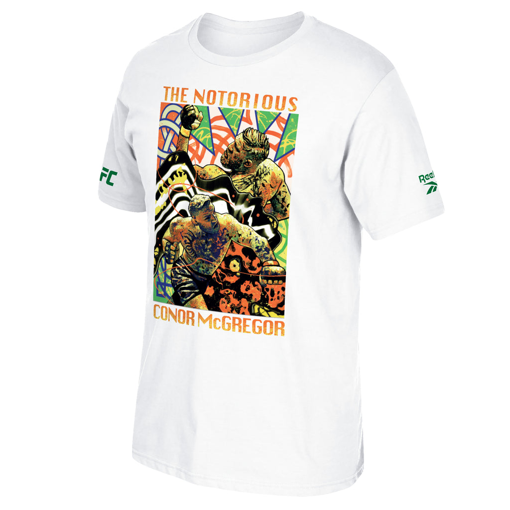 UFC Conor McGregor Fan Gear Painting Graphic Crew T-Shirt - White