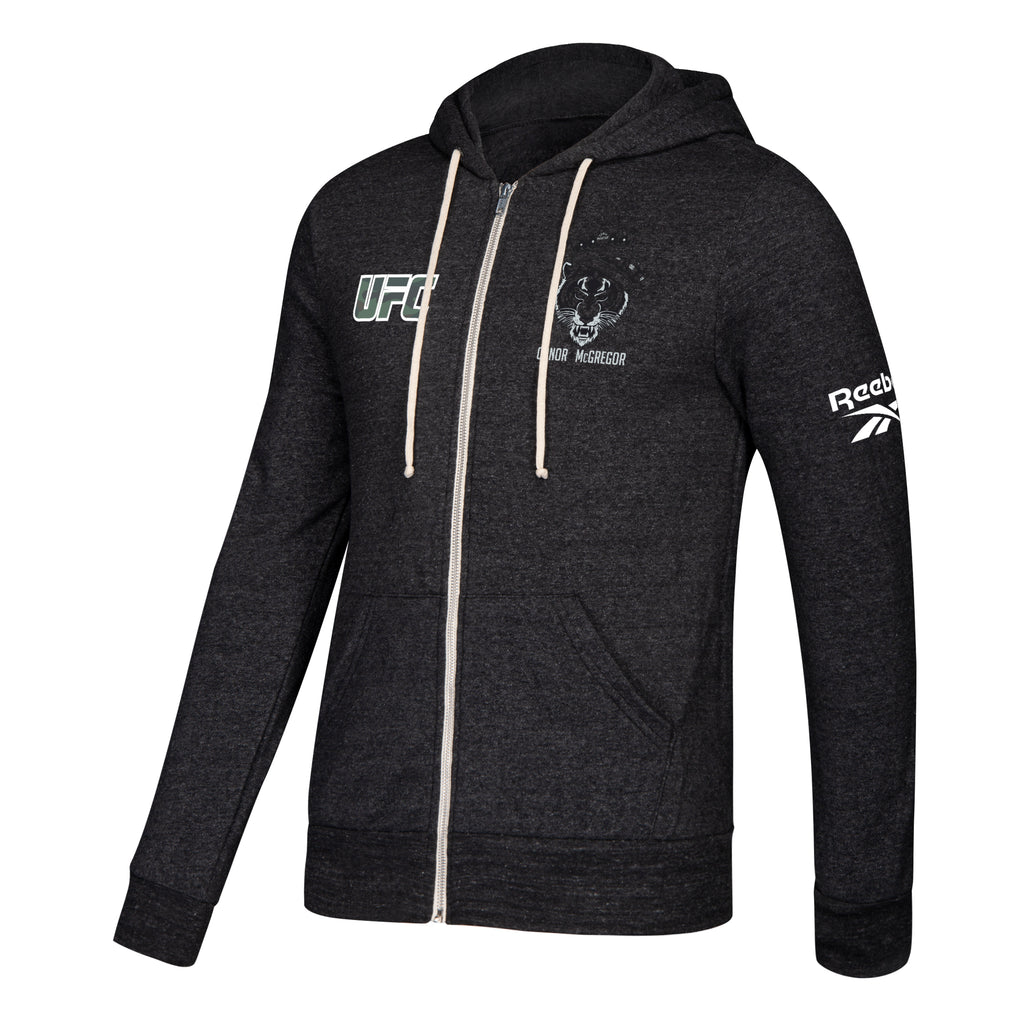 UFC 246 Team Conor McGregor Full Zip Hoodie - Black Heather