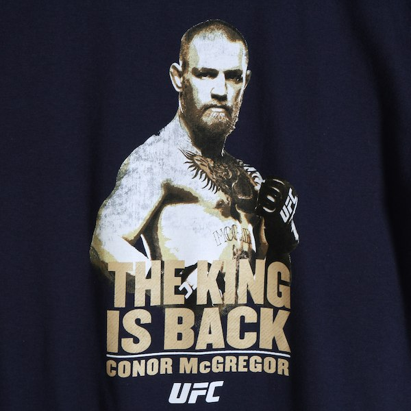 Men's Reebok Conor McGregor Navy UFC The King is Back T-Shirt