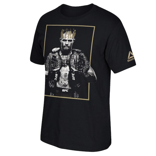 Men's Reebok Conor McGregor King 2 Belts Photo T-Shirt
