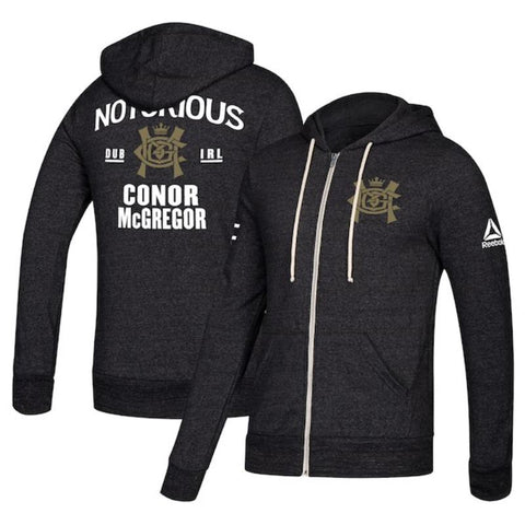 Men's Reebok Conor McGregor Chalk UFC Fight Night Walkout Hoodie Replica