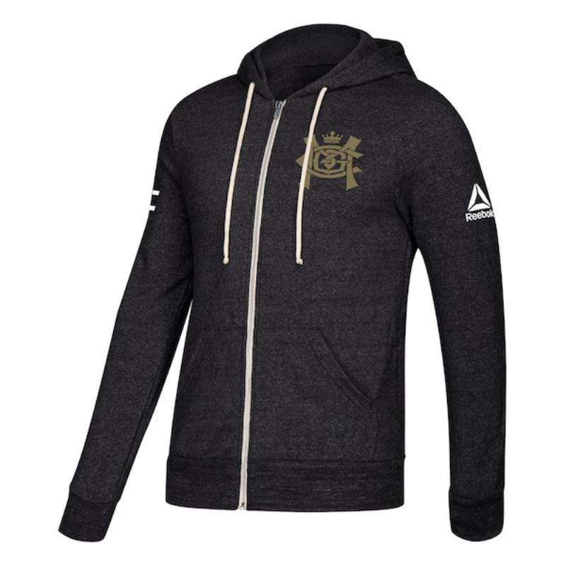 Men's Team Conor McGregor Soft Fleece Full Zip Hoodie- Black Heather