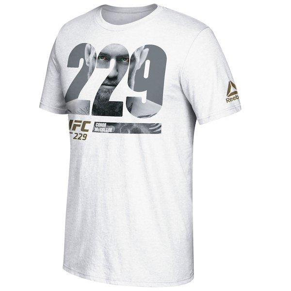 Men's Reebok Conor McGregor White UFC 229 Pierce Through Photo T-Shirt