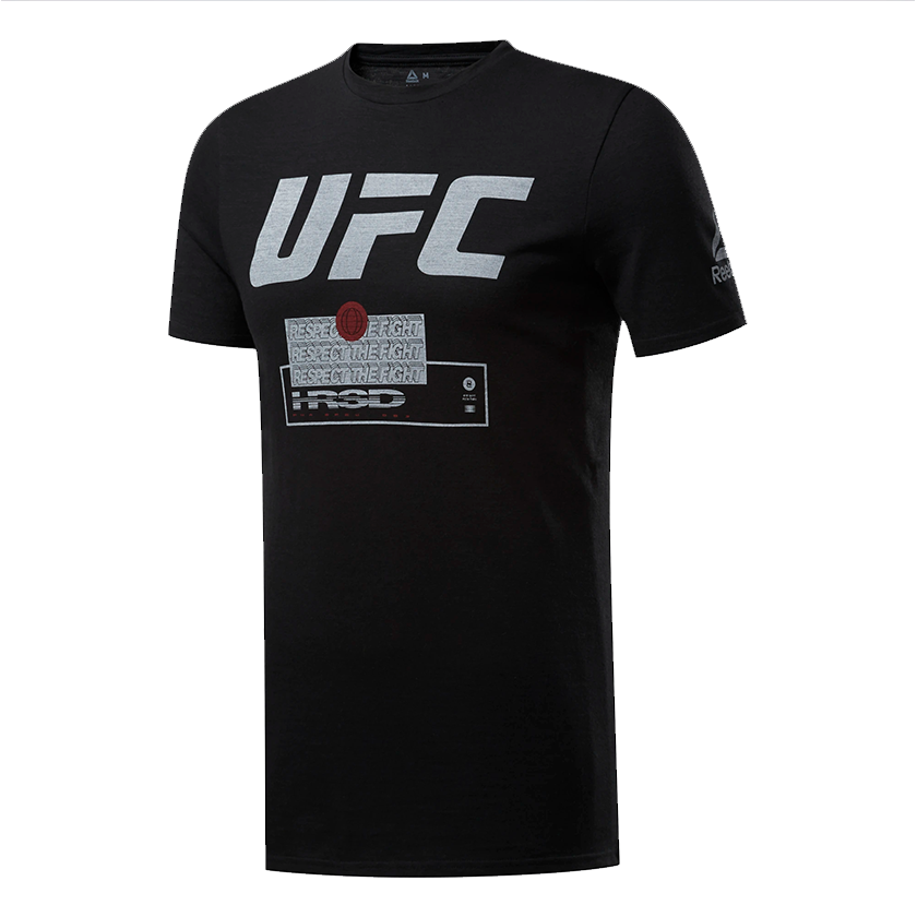 "Men's Reebok Black UFC Fan Gear ""Respect The Fight"" T-Shirt"