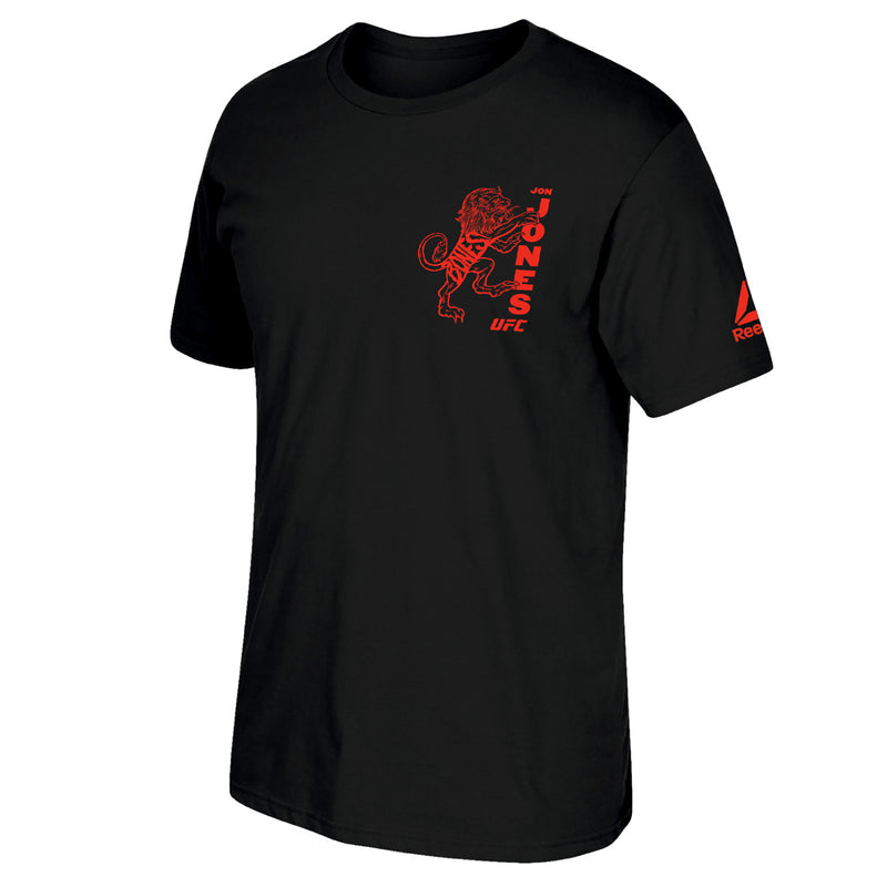 Jon Bones Jones Reebok Lion Climb Short Sleeve T-Shirt - Black