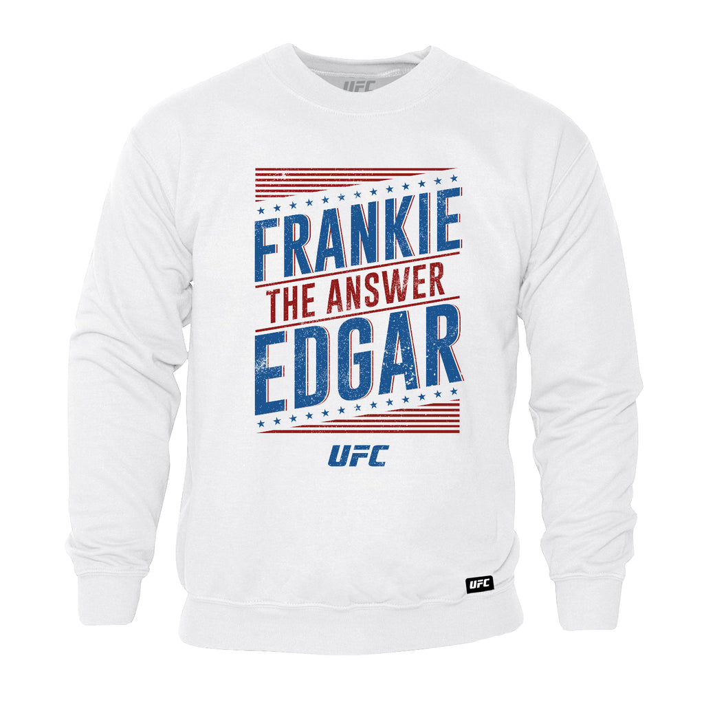 "UFC Frankie ""The Answer"" Edgar Graphic Sweatshirt-White"