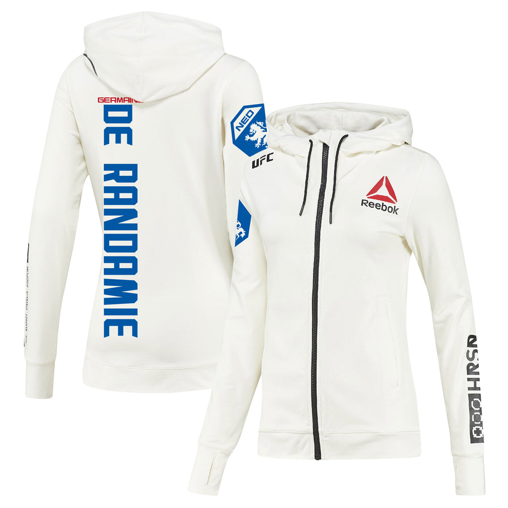Womens Reebok Germaine De Randamie Chalk UFC Fight Night Walkout Hoodie Replica