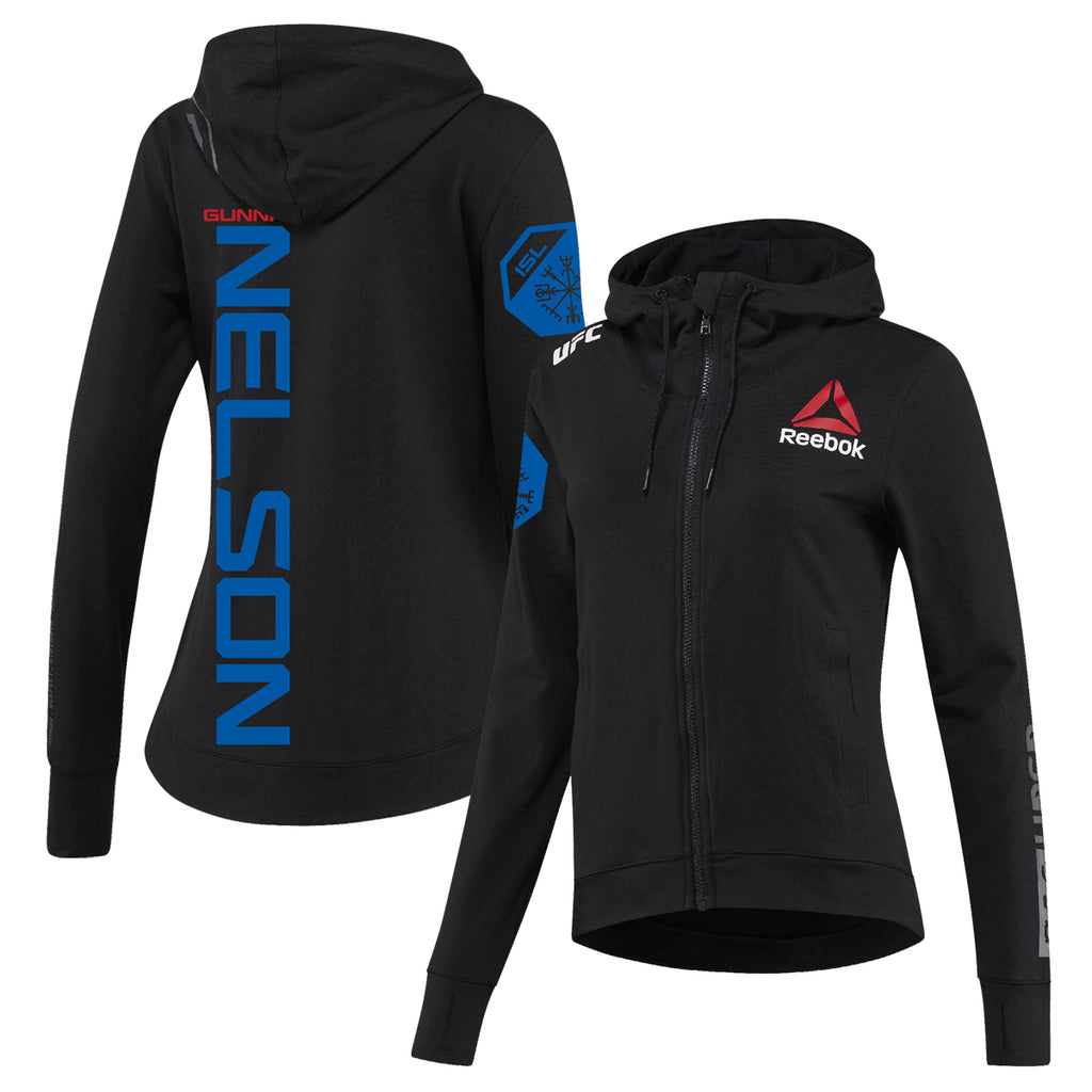 Women's Reebok Gunnar Nelson Black UFC Fight Night Walkout Hoodie Replica