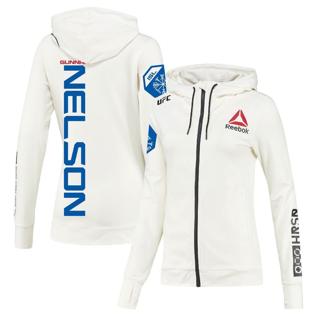 Women's Reebok Gunnar Nelson Chalk UFC Fight Night Walkout Hoodie Replica