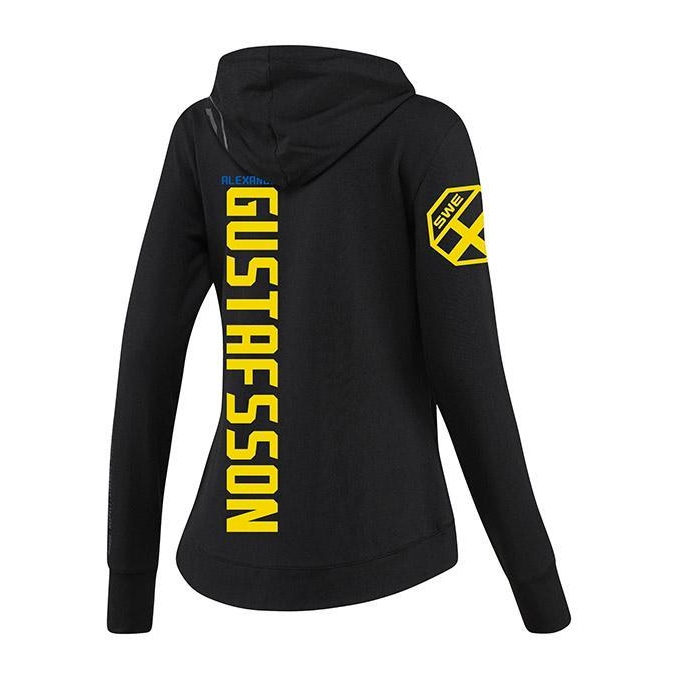 Women's Reebok Alexander Gustafsson Black UFC Fight Night Walkout Hoodie Replica