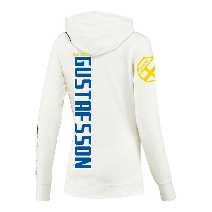 Women's Reebok Alexander Gustafsson Chalk UFC Fight Night Walkout Hoodie Replica