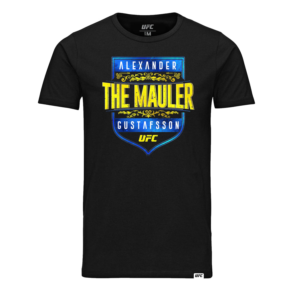 "UFC Alexander ""The Mauler"" Gustafsson Graphic T-Shirt-Black"