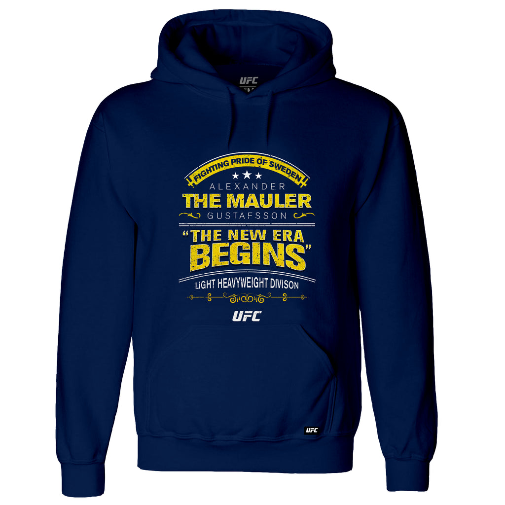 "UFC Alexander ""The Mauler"" Gustafsson Quote Hoodie-Navy"