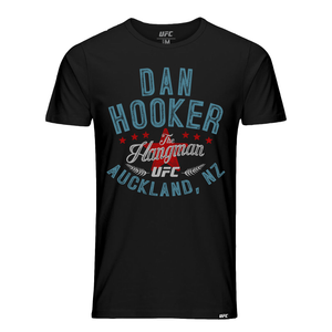 "Men's UFC Dan ""The Hangman"" Hooker Vintage Graphic T-Shirt- Black"
