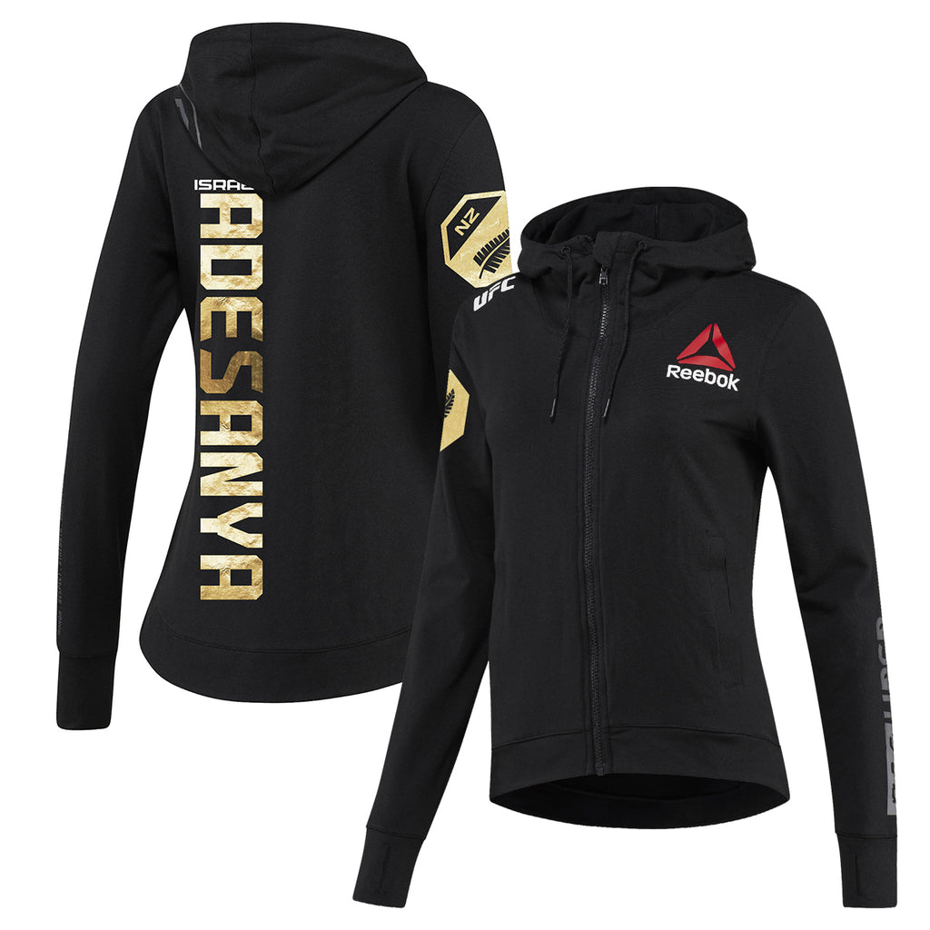 Women's Reebok Israel Adesanya Champion UFC Fight Night Walkout Hoodie Replica
