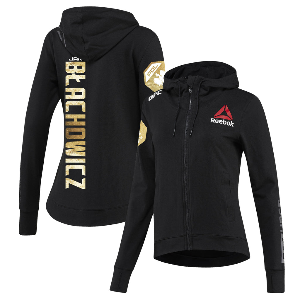 Women's Reebok Jan Blachowicz Champion UFC Fight Night Walkout Hoodie Replica