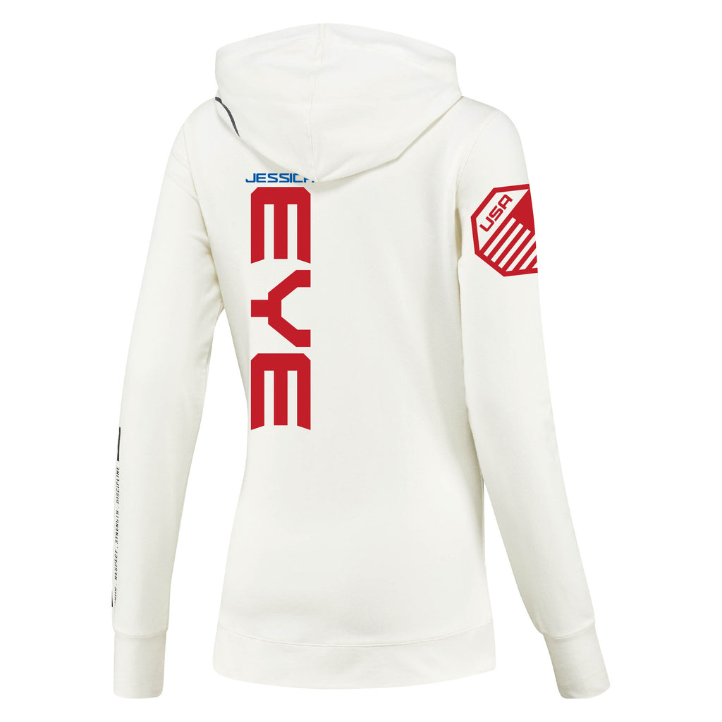 Women's Reebok Jessica Eye Chalk UFC Fight Night Walkout Hoodie Replica