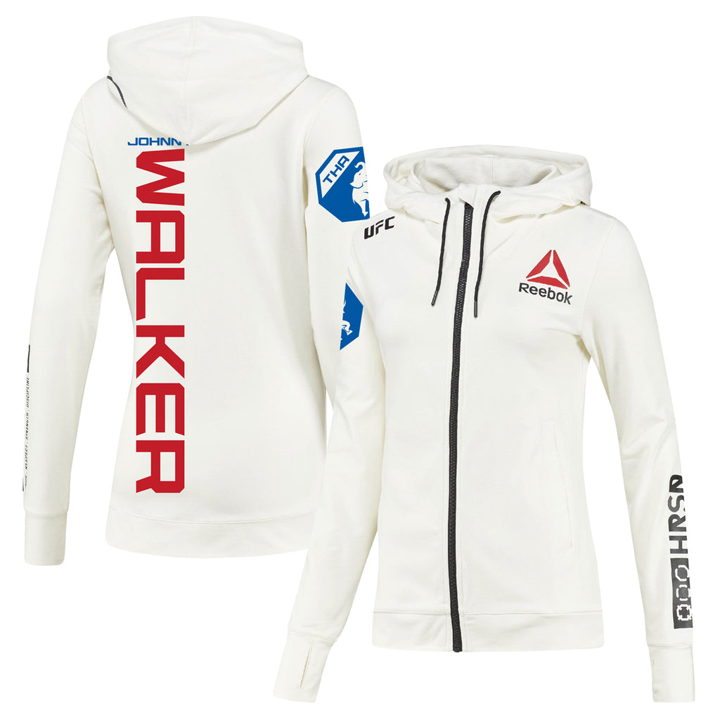 Womens Reebok Johnny Walker Chalk UFC Fight Night Walkout Hoodie Replica