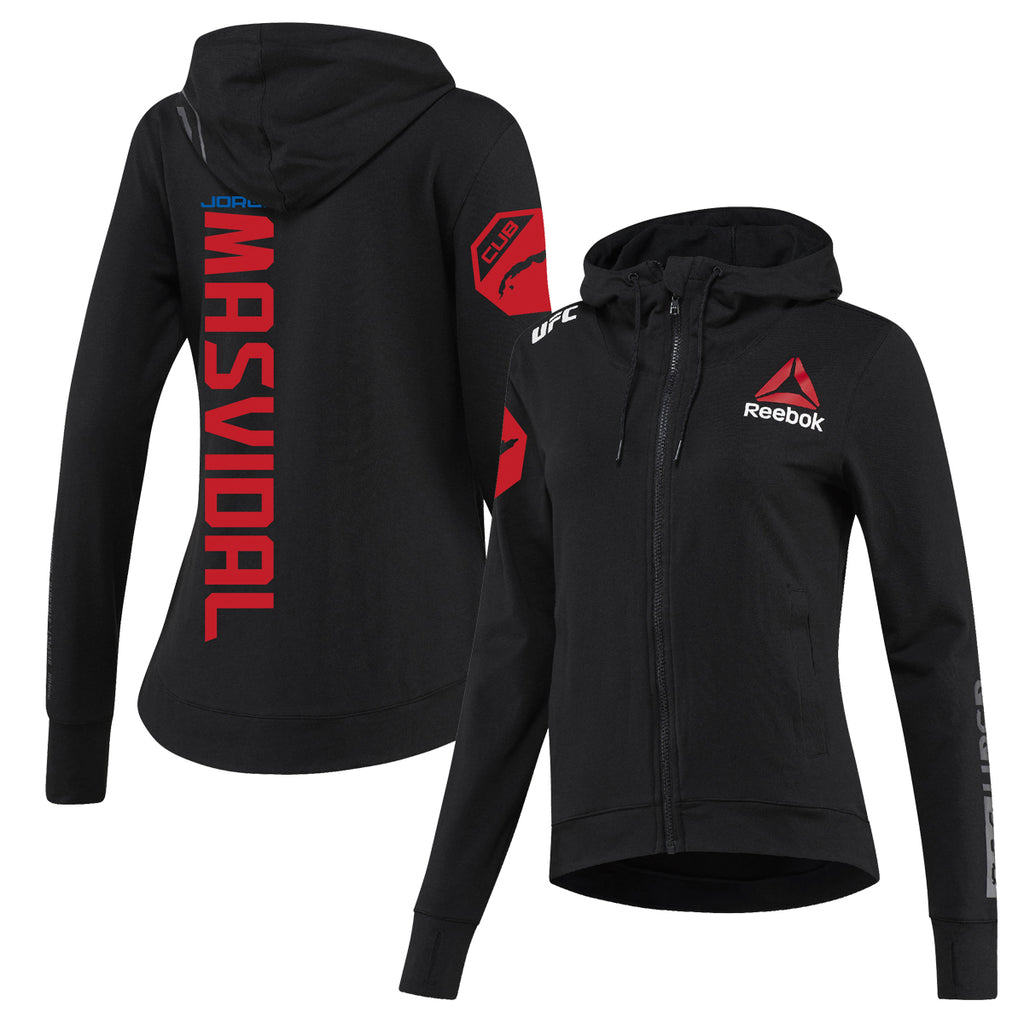 Women's Reebok Jorge Masvidal Black UFC Fight Night Walkout Hoodie Replica