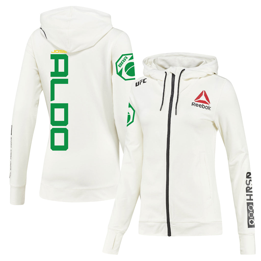 Women's Reebok José Aldo Chalk UFC Fight Night Walkout Hoodie Replica