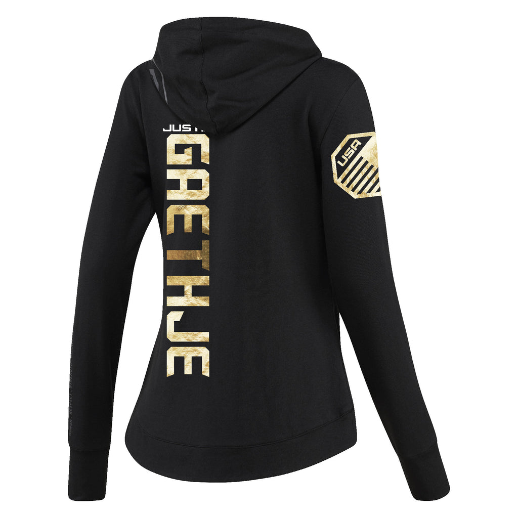 Womens Reebok Justin Gaethje Champion UFC Fight Night Walkout Hoodie Replica