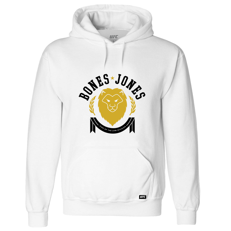 UFC Jon 'Bones' Jones Lt Heavyweight Champ Hoodie - White