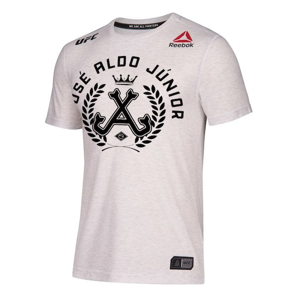 Men's Reebok Jose Aldo White UFC Legacy Walkout Series Jersey