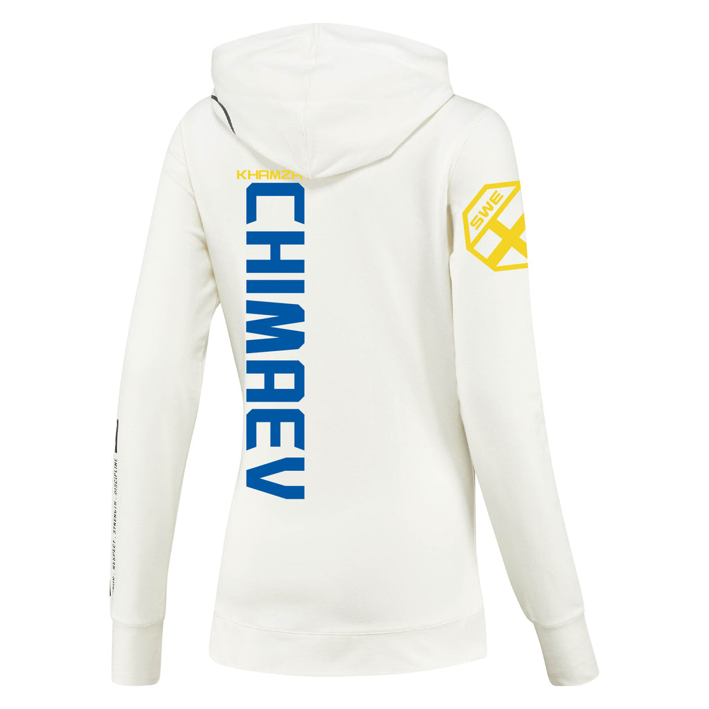 Women's Reebok Khamzat Chimaev Chalk UFC Fight Night Walkout Hoodie Replica