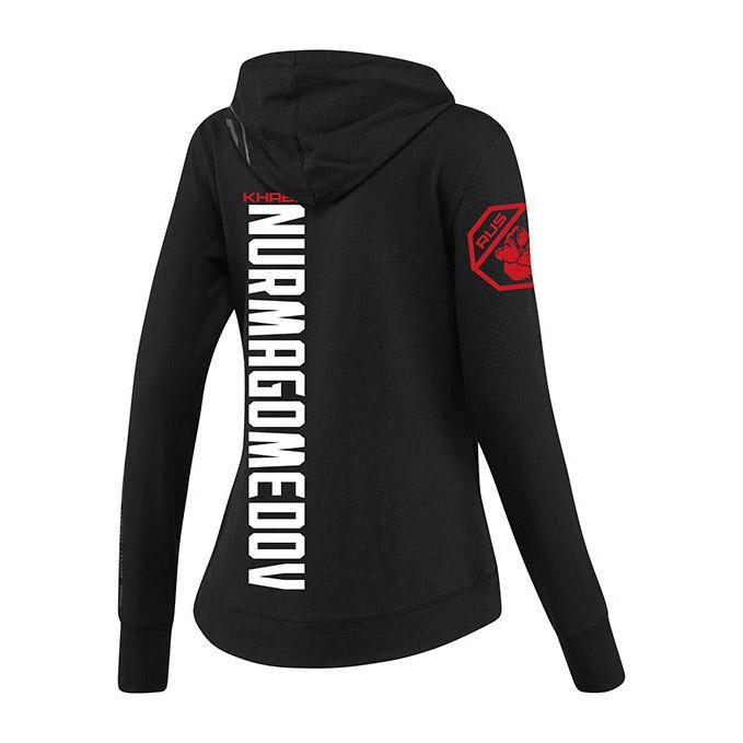 Women's Reebok Khabib Nurmagomedov Black UFC Fight Night Walkout Hoodie Replica