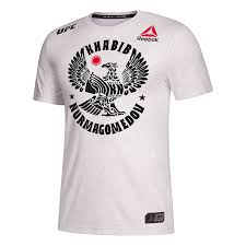 Men's Reebok Khabib Nurmagomedov Black Authentic UFC Fight Night Walkout Jersey