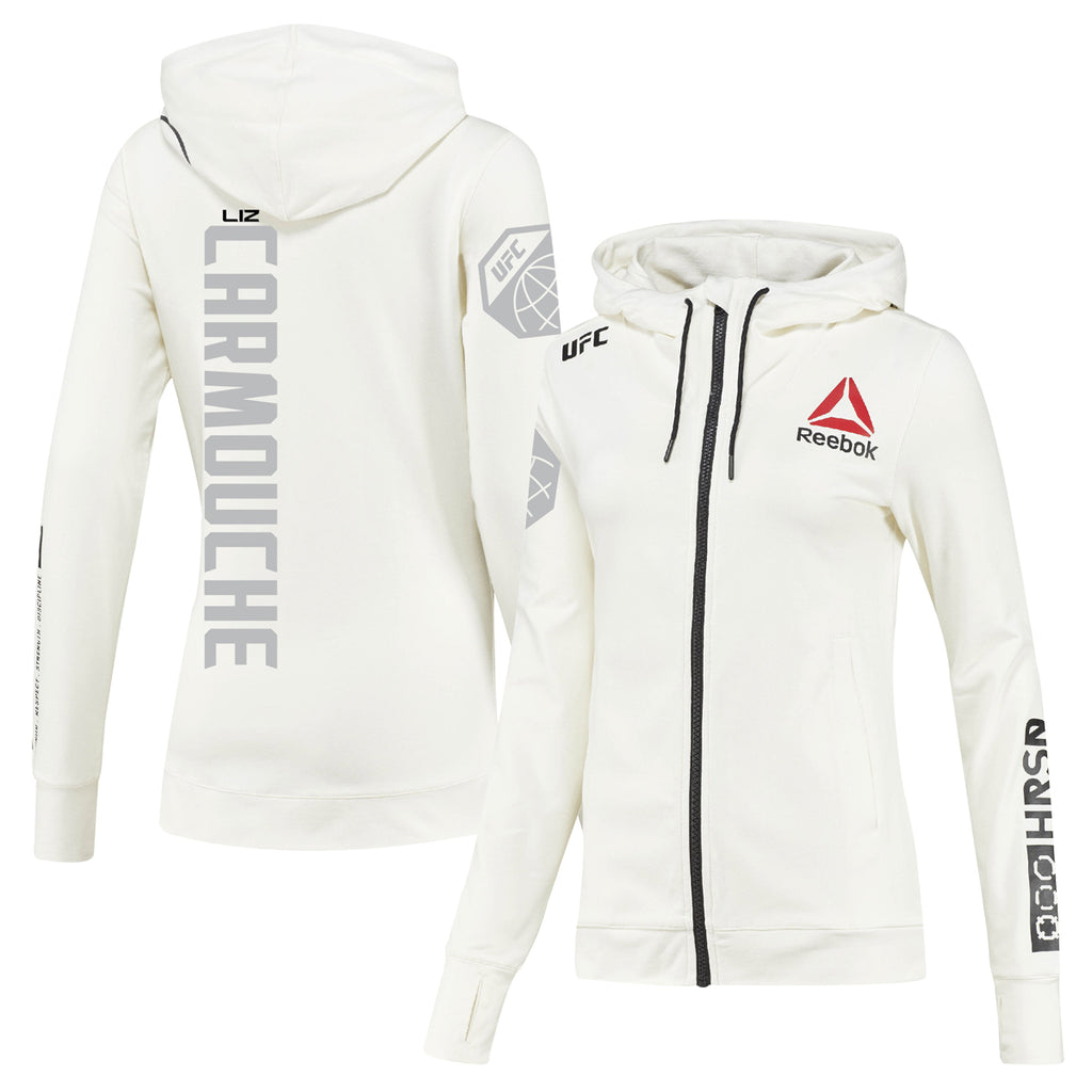 Womens Reebok Liz Carmouche Chalk UFC Fight Night Walkout Hoodie Replica