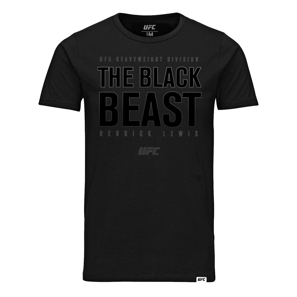 "UFC Derrick ""The Black Beast"" Lewis T-Shirt-Black"