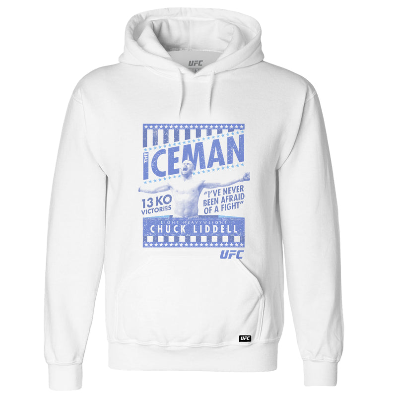 "UFC Legend Chuck Liddell ""The Iceman""  Hoodie- White"