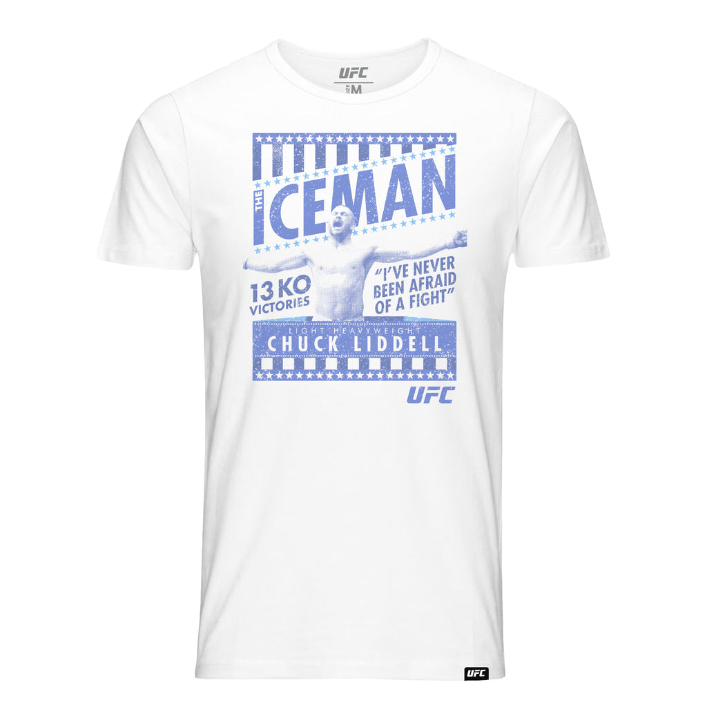 "UFC Legend Chuck Liddell ""The Iceman"" T-Shirt- White"