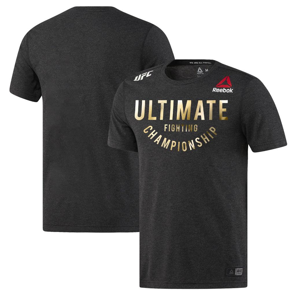 Personalised Men's Reebok Black Champion Authentic UFC Fight Night Walkout Jersey