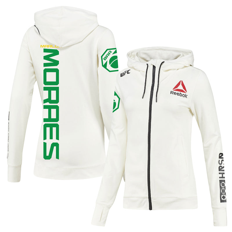 Women's Reebok Marlon Moraes Chalk UFC Fight Night Walkout Hoodie Replica