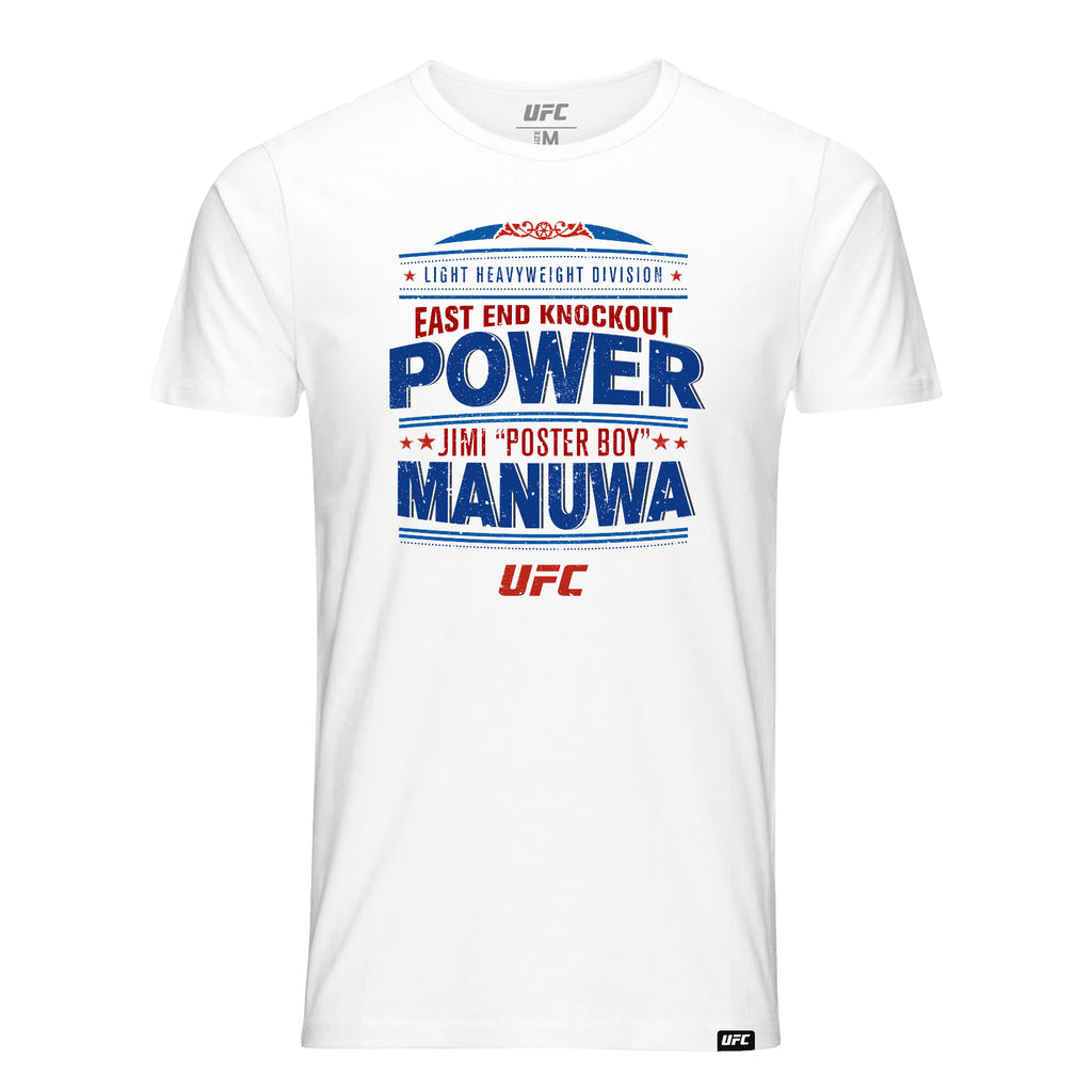 "UFC Jimi ""Poster Boy"" Manuwa East End Knockout T-Shirt-White"