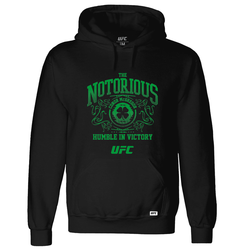 Conor McGregor Humble in Victory Green Print Hoodie - Black