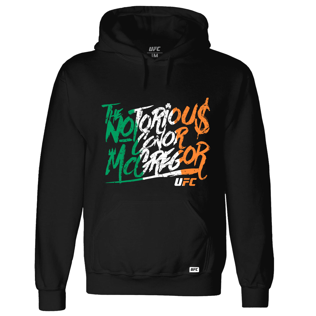 "Men's UFC Conor ""The Notorious"" McGregor Graffiti Flag Hoodie -Black"