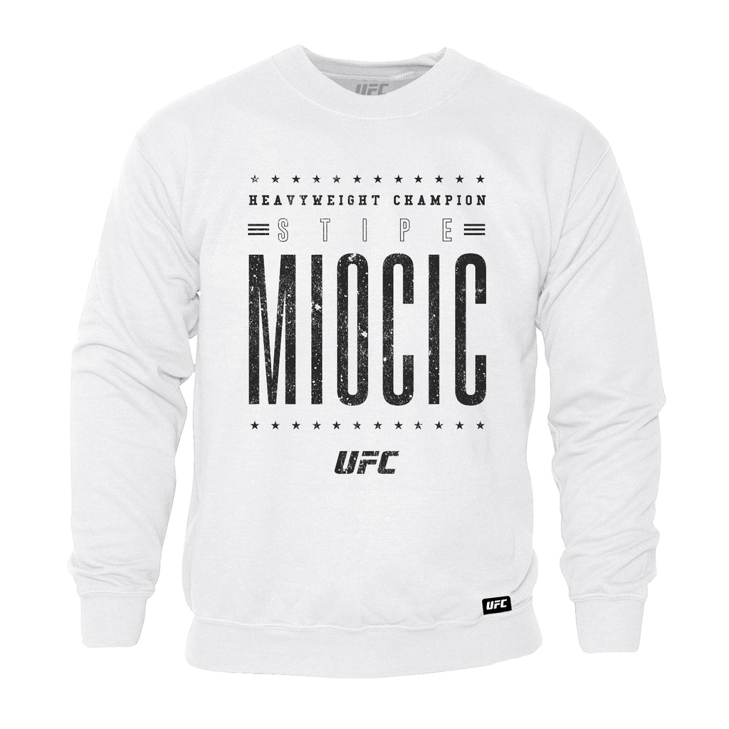 UFC Stipe Miocic Retro Sweatshirt-White