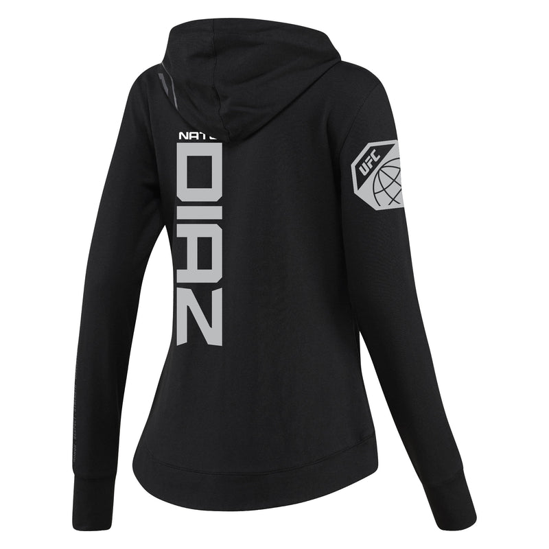 Women's Reebok Nate Diaz Black UFC Fight Night Walkout Hoodie Replica