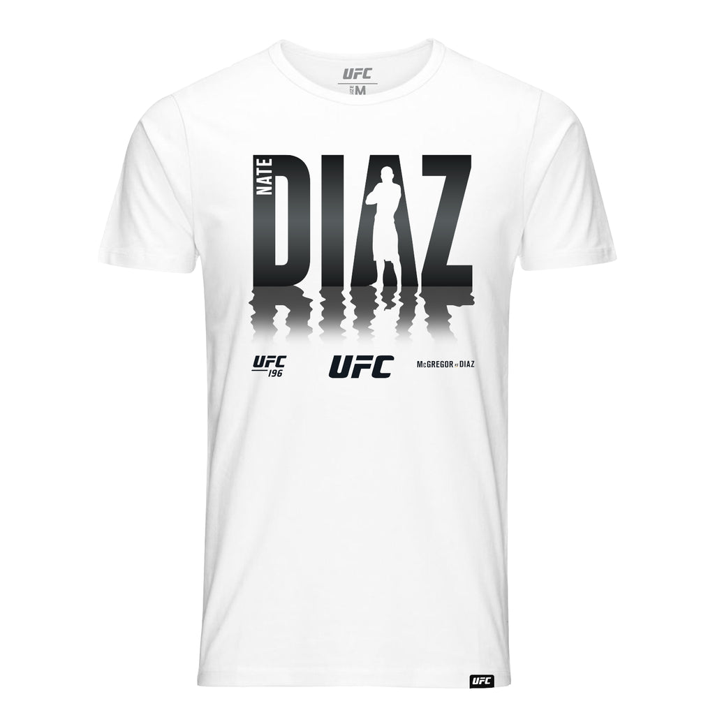 5747e7e9676 Nate Diaz UFC196 Shadow T-Shirt-White