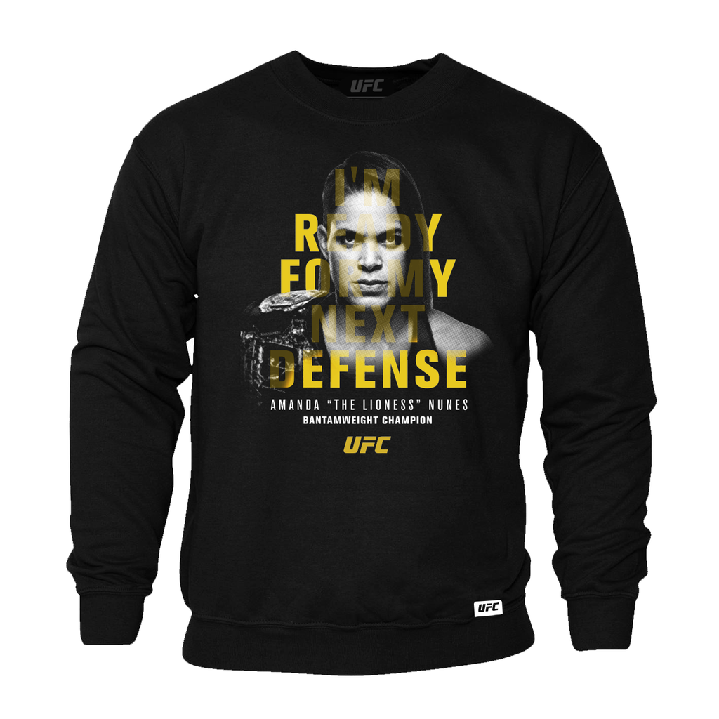 UFC Amanda Nunes Defense Quote Sweatshirt-Black