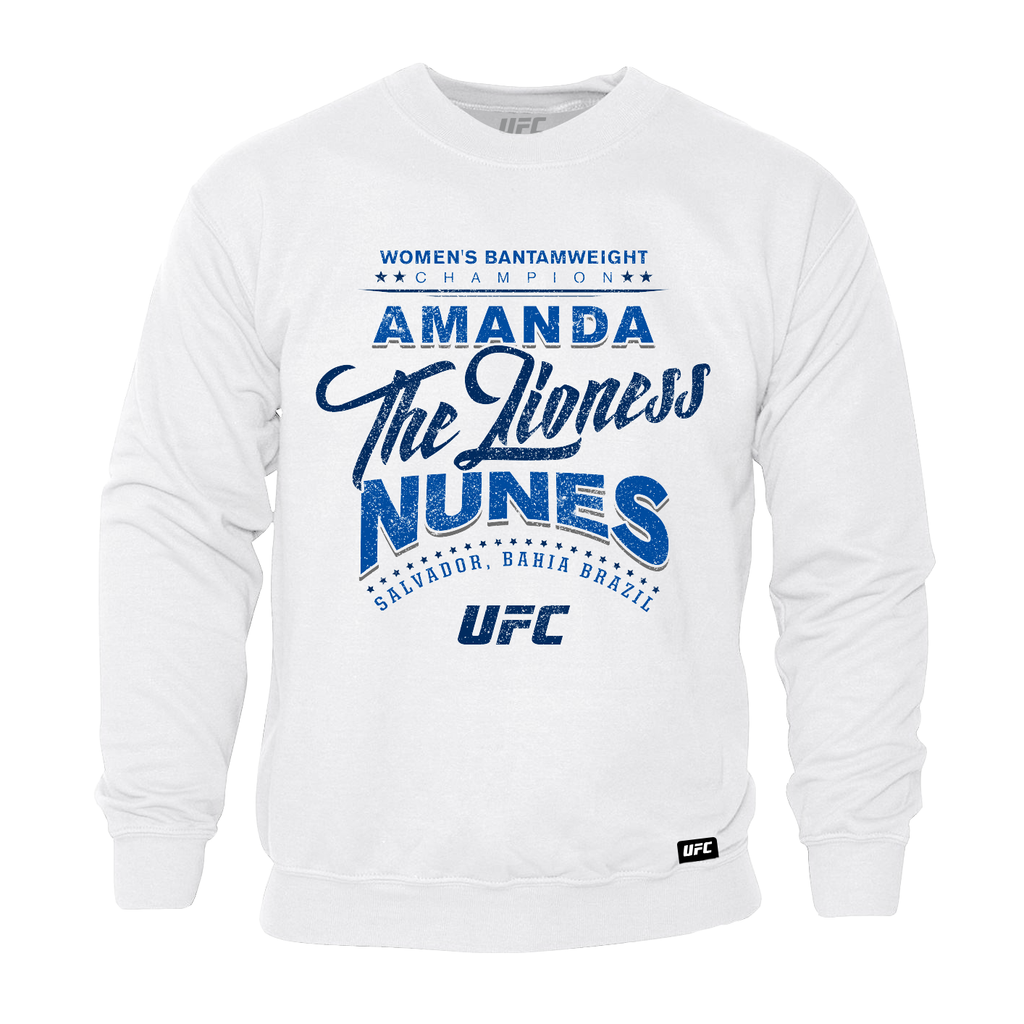 "UFC Amanda ""The Lioness"" Nunes Sweatshirt-White"