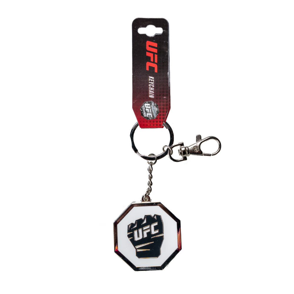 UFC Keychain Zamac Octogan Glove -White